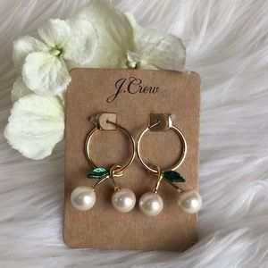 J. Crew Jewelry - 🆕J.Crew Pearl Cherry Earrings NWT